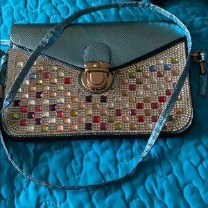 Handbags - Icy Blue Crossbody Purse